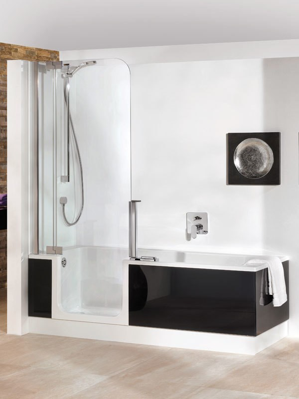 artweger twinline 2 badewanne mit dusche. Black Bedroom Furniture Sets. Home Design Ideas