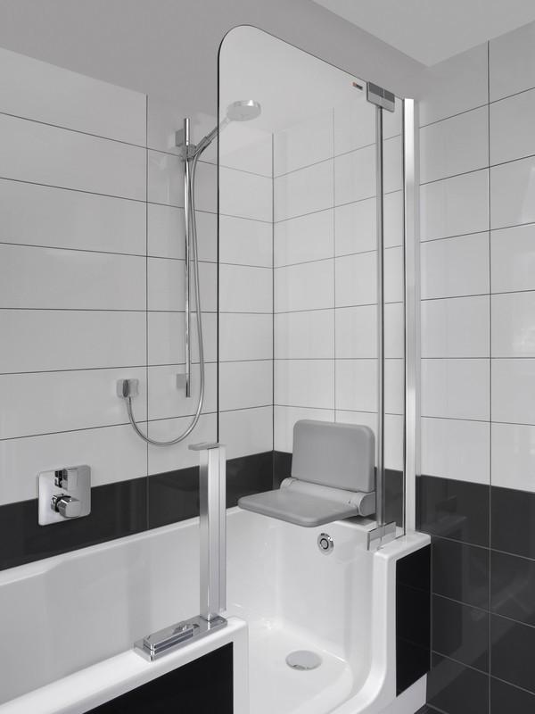 artweger twinline 2 badewanne mit dusche. Black Bedroom Furniture Sets. Home Design Ideas