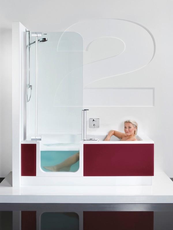 badewanne mit duschzone 150 das beste aus wohndesign und. Black Bedroom Furniture Sets. Home Design Ideas