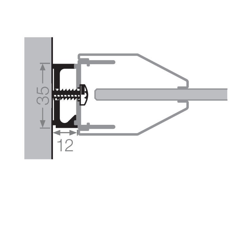 artweger twinline 2 stapelprofil 1 2 cm. Black Bedroom Furniture Sets. Home Design Ideas