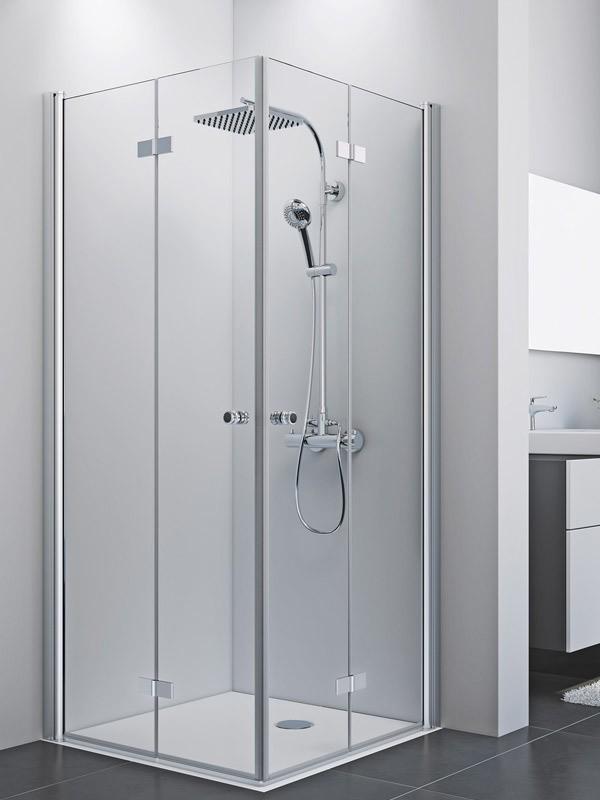 breuer elana 8 duschkabine eckeinstieg pendel faltt r. Black Bedroom Furniture Sets. Home Design Ideas