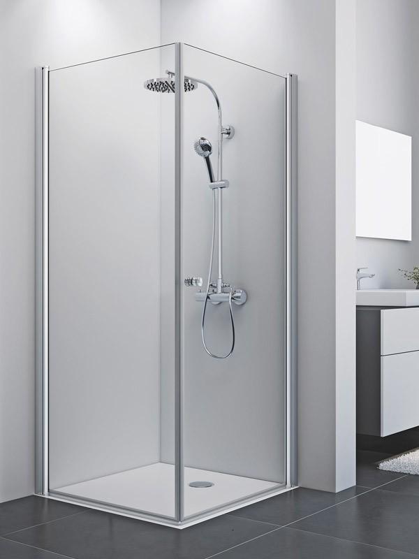 breuer elana 8 eck duschkabine mit seitenwand pendelt r. Black Bedroom Furniture Sets. Home Design Ideas