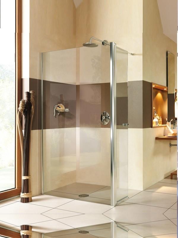 breuer entra walk in duschwand mit seitenteil ber eck. Black Bedroom Furniture Sets. Home Design Ideas