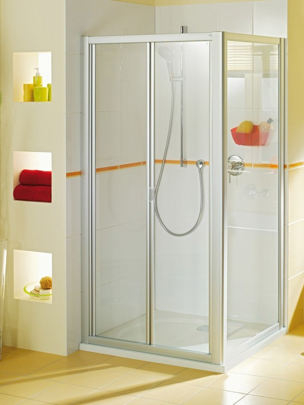 breuer fara eck duschkabine faltt r mit seitenwand. Black Bedroom Furniture Sets. Home Design Ideas