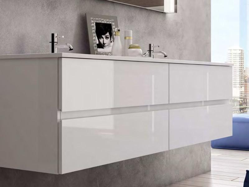 Burgbad bel doppelwaschtisch mit waschtischunterschrank m for M bel heinrich küchen