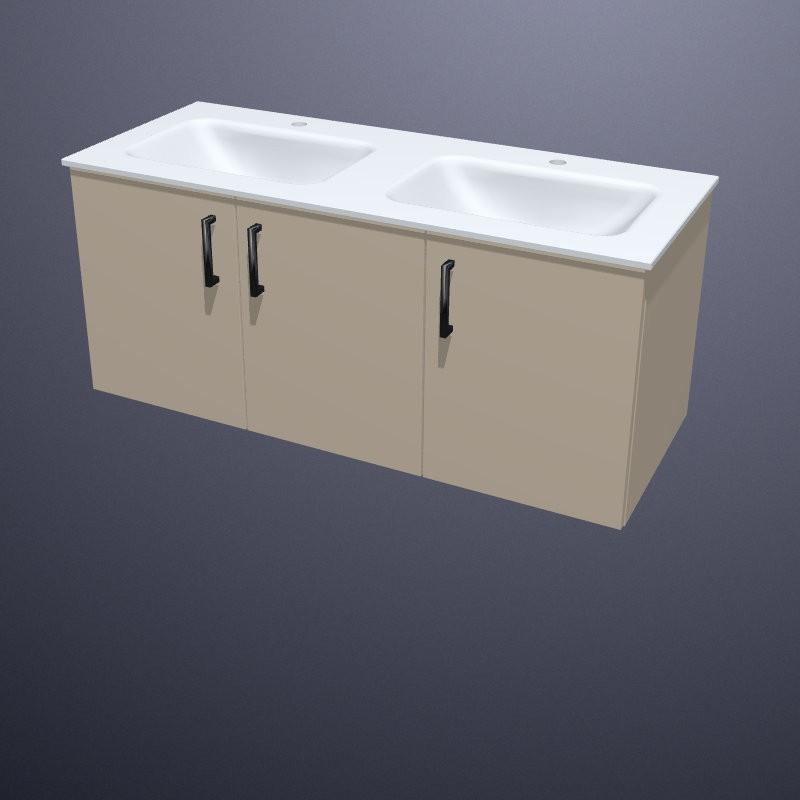 Doppelwaschtisch keramik mit unterschrank  Burgbad Eqio Doppelwaschtisch mit Sys30 Waschtischunterschrank ...