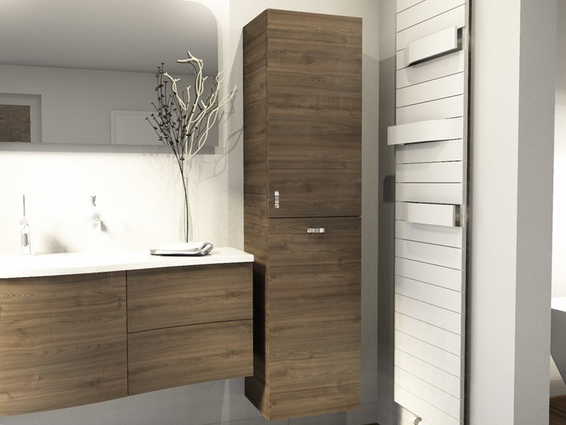 Burgbad Sinea 1.0 Hochschrank mit Tür und Wäschekippe | BadDepot.de