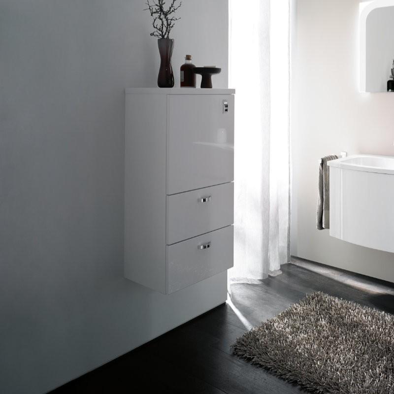 burgbad sinea 1 0 halbhoher schrank mit t r und zwei schubladen. Black Bedroom Furniture Sets. Home Design Ideas