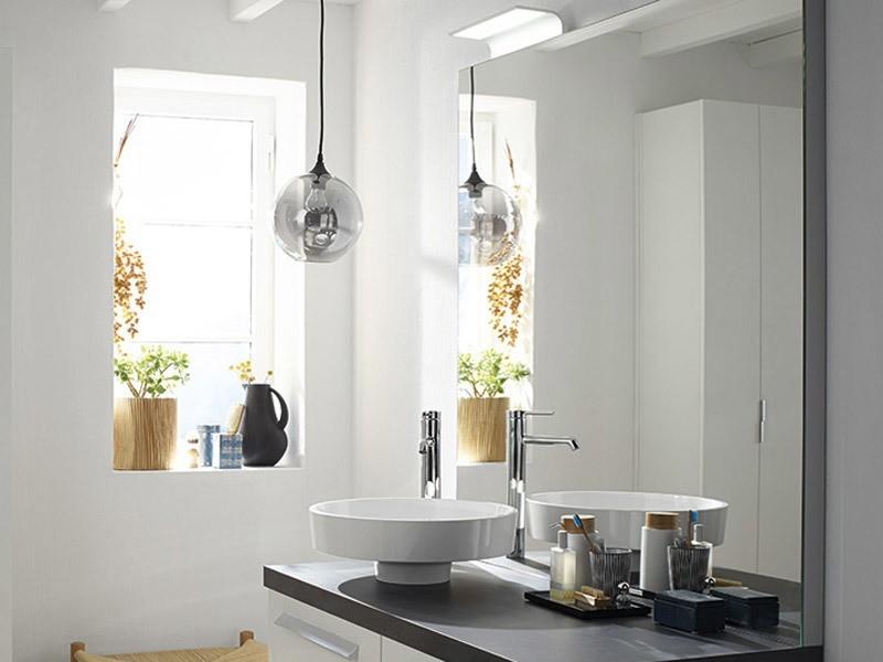 burgbad sys30 led bogenleuchte f r burgbad spiegel spiegelschrank massflexibel. Black Bedroom Furniture Sets. Home Design Ideas