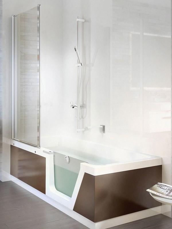 Duscholux step in pure badewanne mit t r for Badewanne mit folie bekleben