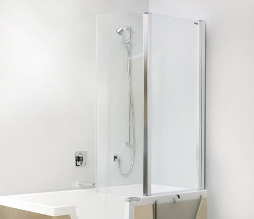 duscholux step in pure faltduschwand 2 teilig. Black Bedroom Furniture Sets. Home Design Ideas