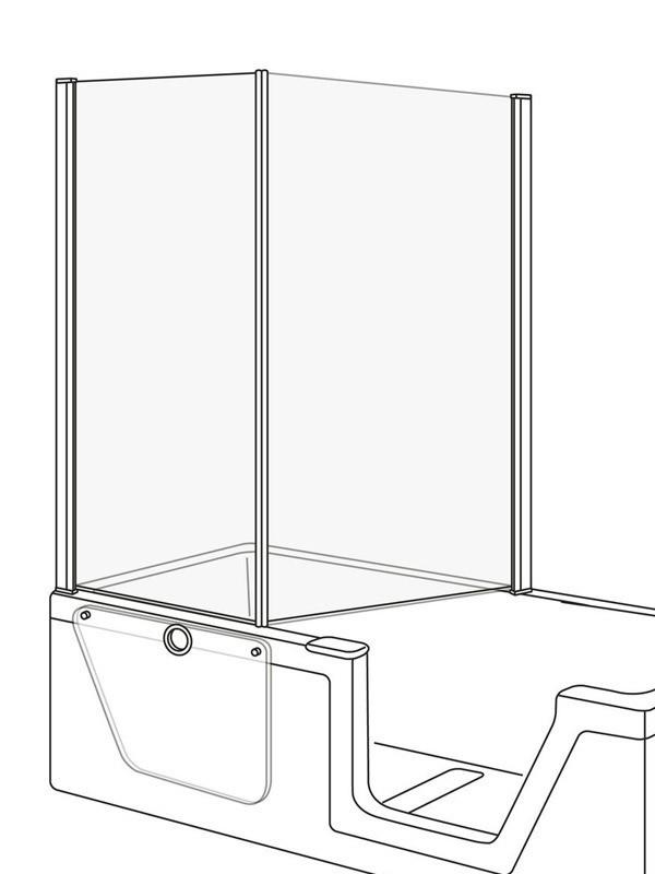 duscholux step in pure faltduschwand f r eckeinstieg. Black Bedroom Furniture Sets. Home Design Ideas