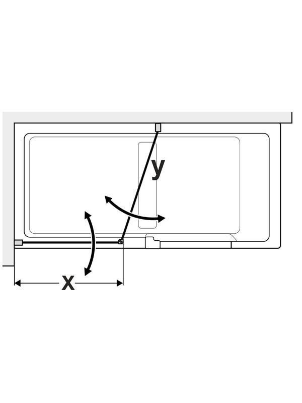 Duscholux Step-In Pure Faltduschwand für Eckeinstieg