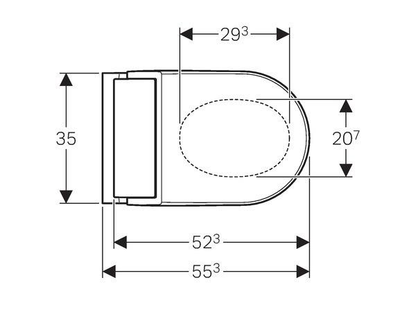Geberit AquaClean Tuma Comfort WC-Komplettanlage Wand-WC   BadDepot.de