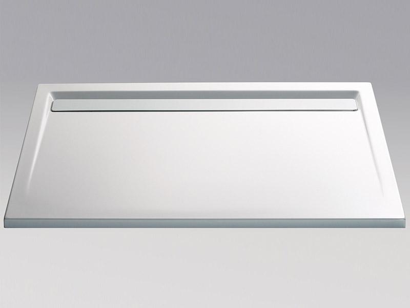 hsk acryl duschwanne mit integrierter ablaufrinne super flach. Black Bedroom Furniture Sets. Home Design Ideas