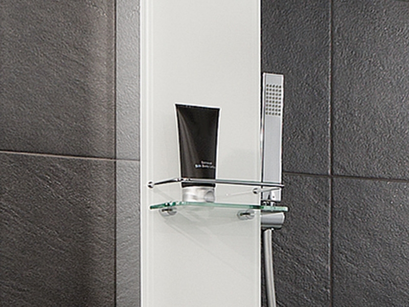hsk duschpaneel lavida mit regentraverse. Black Bedroom Furniture Sets. Home Design Ideas