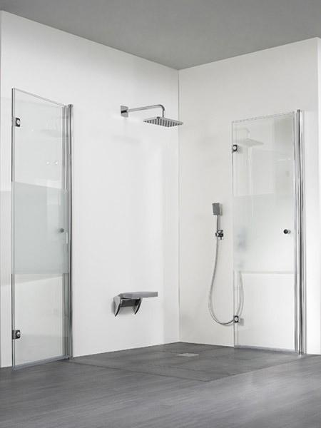 hsk exklusiv duschkabine eckeinstieg pendel faltt r. Black Bedroom Furniture Sets. Home Design Ideas