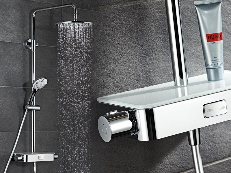 hsk shower set rs 200 aquaswitch thermostat. Black Bedroom Furniture Sets. Home Design Ideas