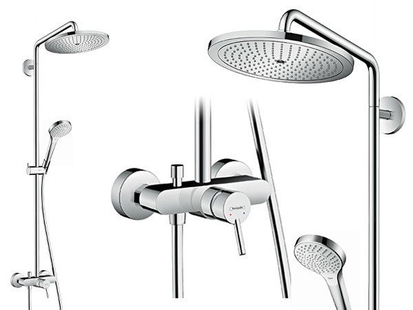 hansgrohe croma select 280 air 1jet showerpipe mit einhebelmischer. Black Bedroom Furniture Sets. Home Design Ideas
