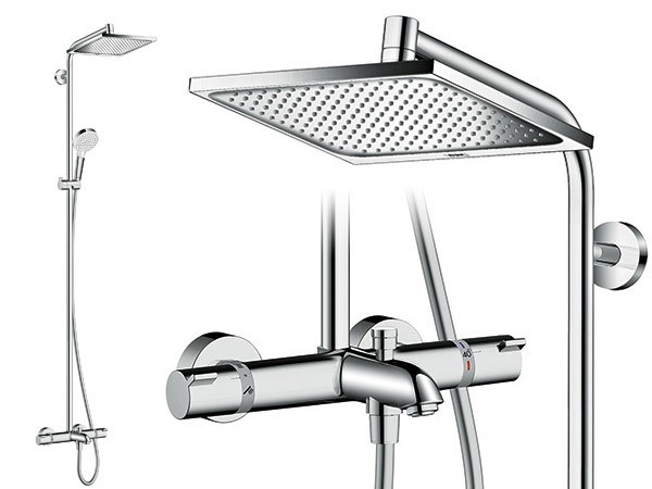hansgrohe crometta e 240 1jet showerpipe wanne. Black Bedroom Furniture Sets. Home Design Ideas