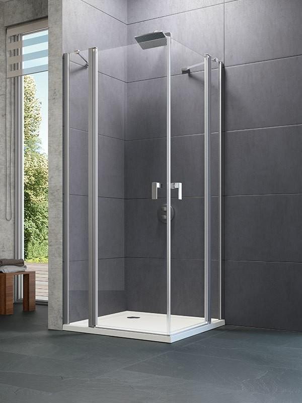h ppe design pure duschkabine eckeinstieg schwingt r mit festfeld. Black Bedroom Furniture Sets. Home Design Ideas