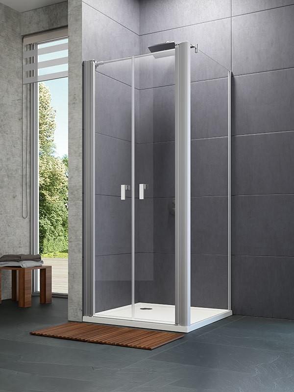 h ppe design pure eck duschkabine mit pendelt r. Black Bedroom Furniture Sets. Home Design Ideas