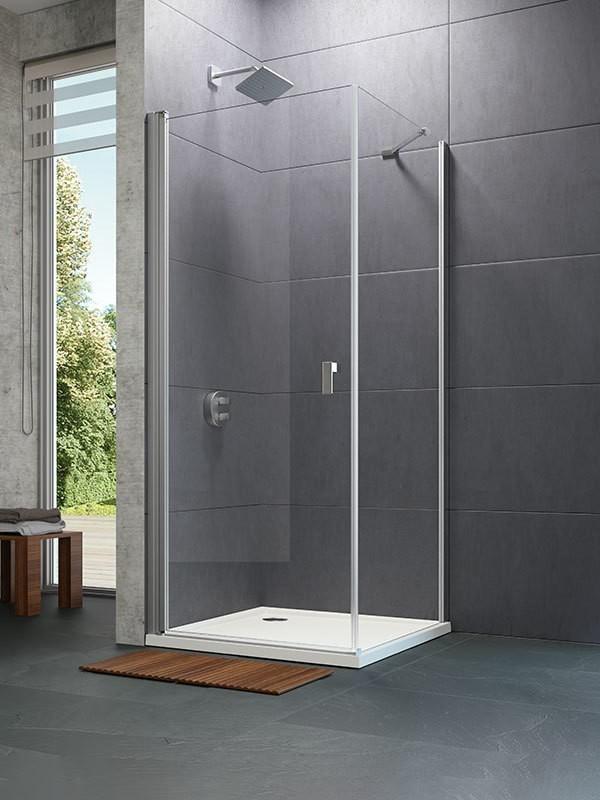 h ppe design pure eck duschkabine mit schwingt r. Black Bedroom Furniture Sets. Home Design Ideas