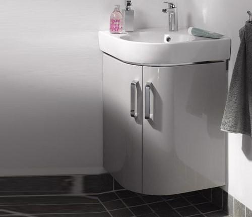 keramag renova nr 1 comprimo neu eck waschtischunterschrank g stebad. Black Bedroom Furniture Sets. Home Design Ideas
