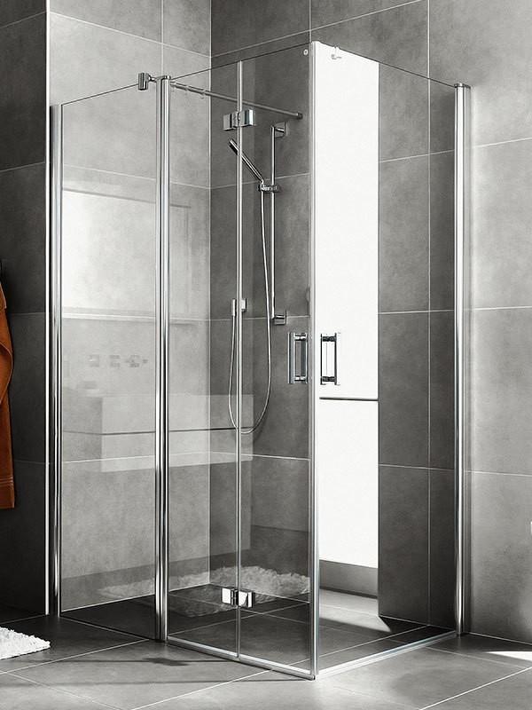 kermi diga duschkabine eckeinstieg pendel faltt r mit festfeld. Black Bedroom Furniture Sets. Home Design Ideas