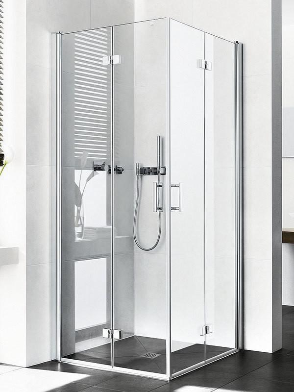 Kermi Diga Eckeinstieg-Duschkabine mit Pendel-Falttüren BadDepot.de