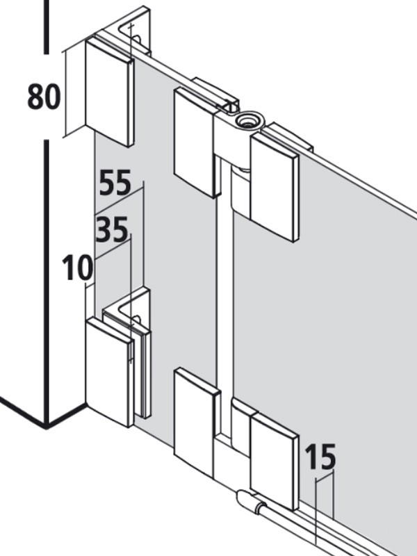 kermi filia duschkabine pendelt r 1 fl gelig mit festfeld. Black Bedroom Furniture Sets. Home Design Ideas