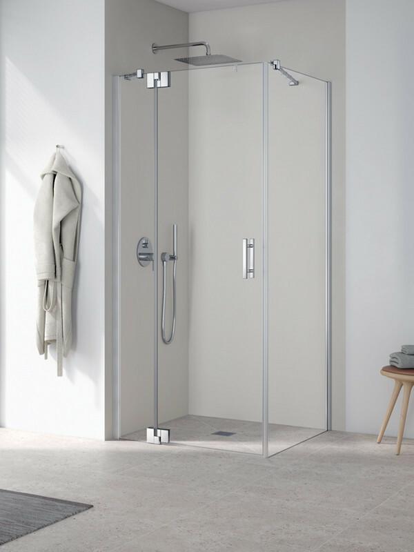 kermi filia xp eck duschkabine pendelt r mit festfeld und seitenwand. Black Bedroom Furniture Sets. Home Design Ideas
