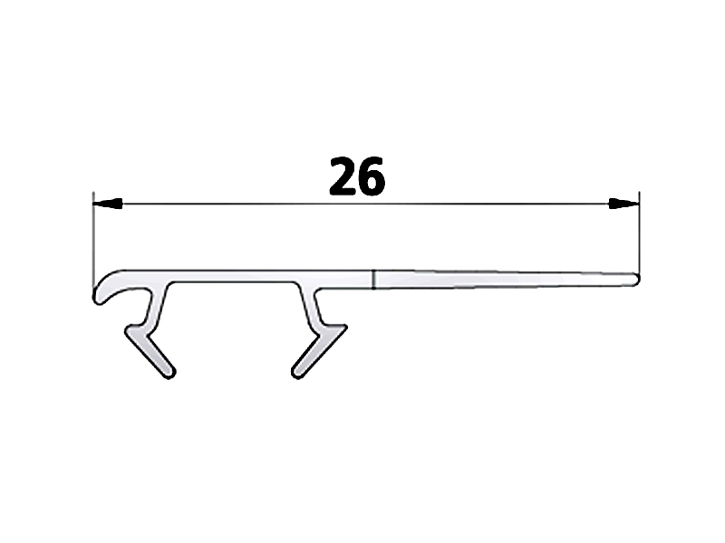 kermi ibiza 2000 anschlagprofil senkrecht. Black Bedroom Furniture Sets. Home Design Ideas