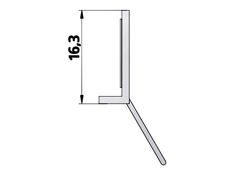 kermi ibiza 2000 dichtleiste waagerecht. Black Bedroom Furniture Sets. Home Design Ideas