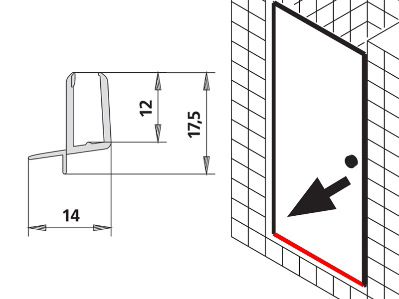 kermi ibiza 2000 duschkabine pendelt r wasserablaufprofil. Black Bedroom Furniture Sets. Home Design Ideas
