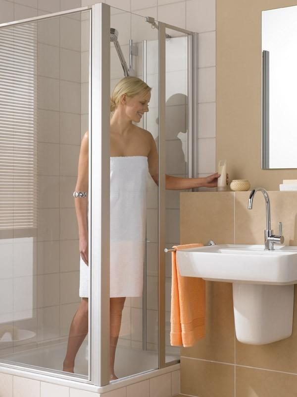 kermi ibiza 2000 eck duschkabine schwingt r mit festfeld. Black Bedroom Furniture Sets. Home Design Ideas