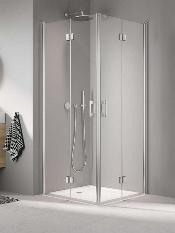 kermi liga duschkabine eckeinstieg pendel faltt r. Black Bedroom Furniture Sets. Home Design Ideas