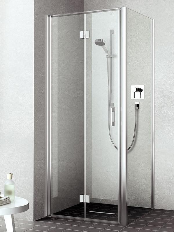 kermi liga eck duschkabine mit pendel faltt r. Black Bedroom Furniture Sets. Home Design Ideas