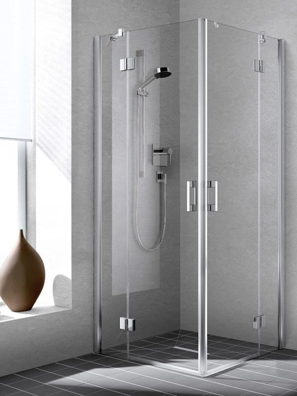 kermi liga eckeinstieg duschkabine pendelt r mit festfeld es. Black Bedroom Furniture Sets. Home Design Ideas