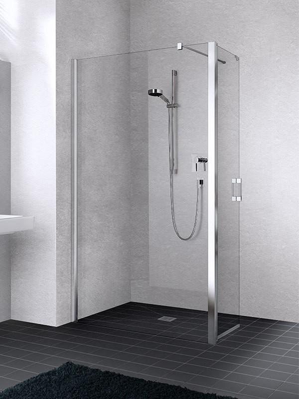 kermi liga walk in wall mit beweglichem fl gel. Black Bedroom Furniture Sets. Home Design Ideas