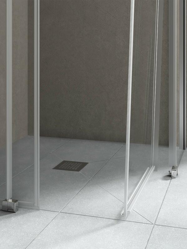 kermi nica eck duschkabine schiebet r 2 teilig mit seitenwand. Black Bedroom Furniture Sets. Home Design Ideas