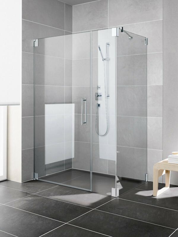 kermi pasa eck duschkabine pendelt r 1 fl gelig mit festteil. Black Bedroom Furniture Sets. Home Design Ideas