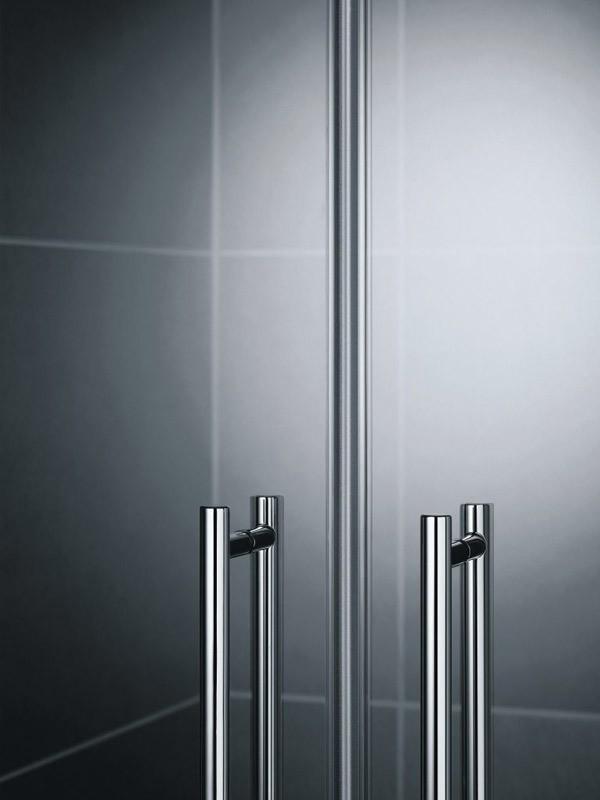kermi pasa xp duschkabine pendelt r 2 fl gelig mit festfeldern. Black Bedroom Furniture Sets. Home Design Ideas