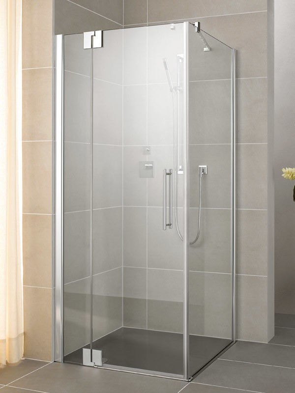 kermi pasa xp eck duschkabine pendelt r 1 fl gelig mit festfeld. Black Bedroom Furniture Sets. Home Design Ideas