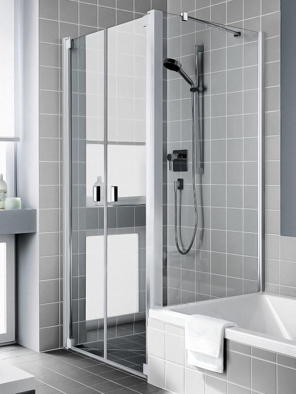 kermi raya eck duschkabine pendelt r 2 fl gelig f r badewannenrand. Black Bedroom Furniture Sets. Home Design Ideas