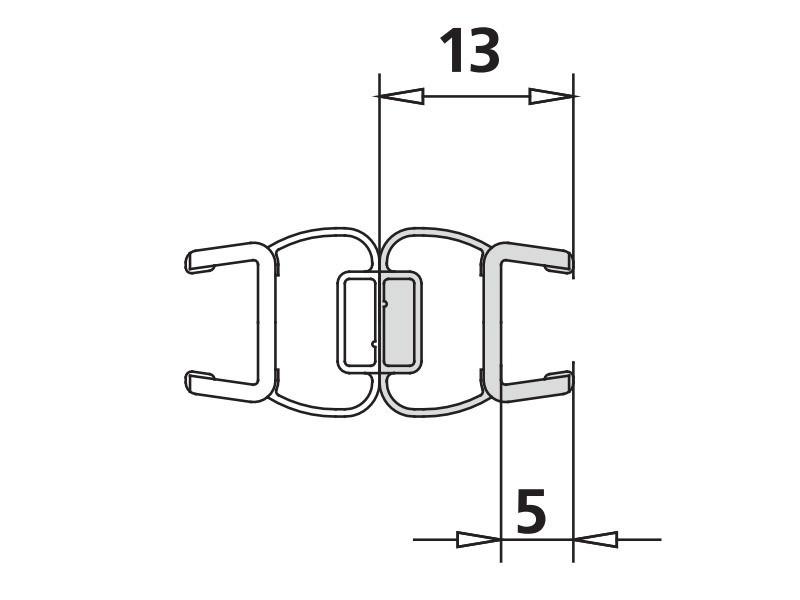 kermi toca toca xp magnetprofil f r t rfl gel 6 mm 1238. Black Bedroom Furniture Sets. Home Design Ideas