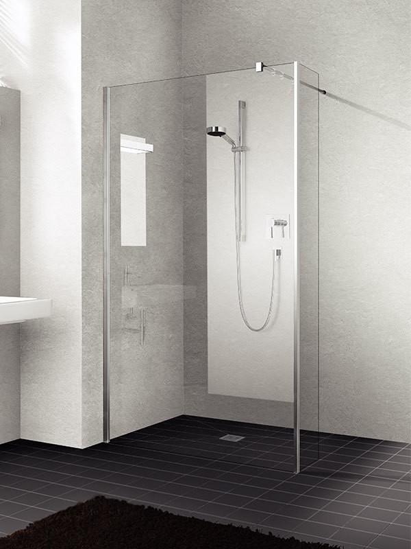 kermi walk in xb wall mit festfeld 90. Black Bedroom Furniture Sets. Home Design Ideas