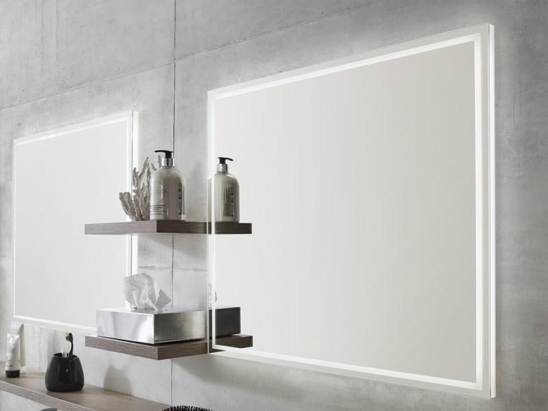 laguna badspiegel mit umlaufendender led beleuchtung. Black Bedroom Furniture Sets. Home Design Ideas
