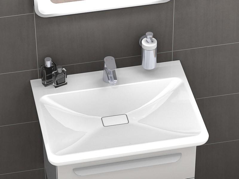 lanzet m9 waschtisch mit waschtischunterschrank 675 mm. Black Bedroom Furniture Sets. Home Design Ideas
