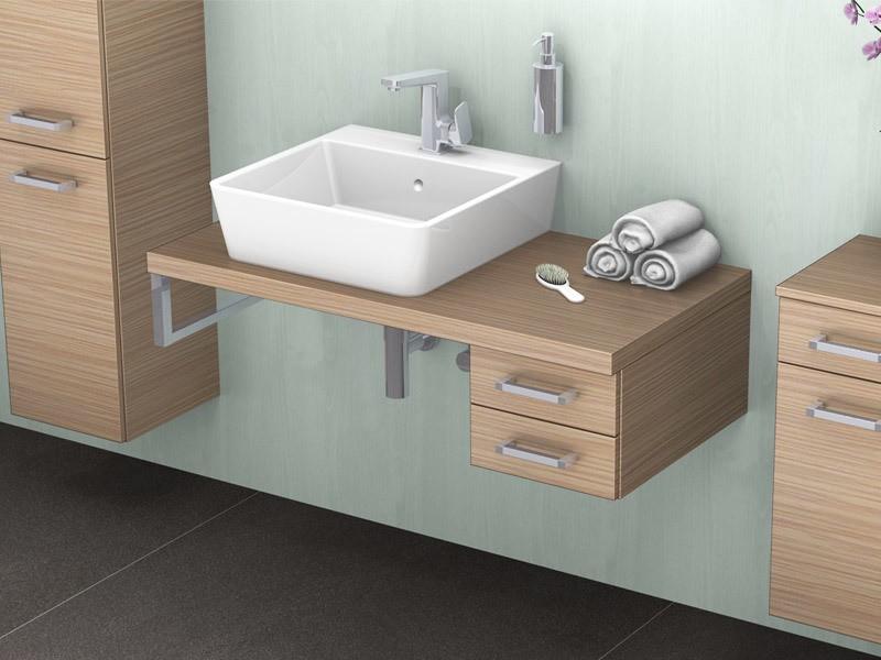 lanzet q4 fit unterschrank mit zwei ausz gen ohne siphonausschnitt. Black Bedroom Furniture Sets. Home Design Ideas
